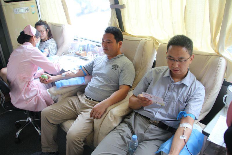 局组织在肥职工参加无偿献血活动