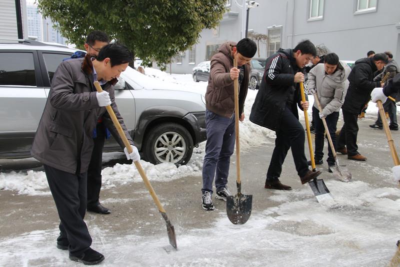 局机关积极开展铲雪除冰活动