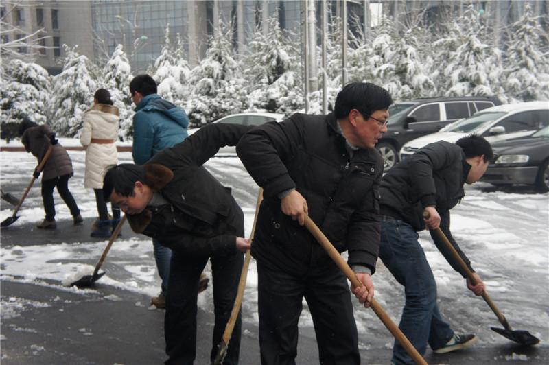 华东冶金 局机关干部职工扫雪 保畅通图片